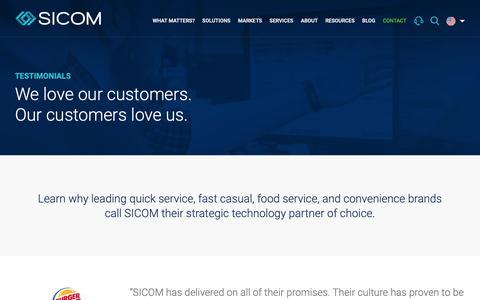Screenshot of Testimonials Page sicom.com - Testimonials - SICOM : SICOM - captured Oct. 19, 2018