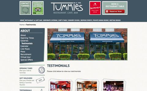 Screenshot of Testimonials Page tummies.net - Tummies  Testimonials - Tummies - captured June 17, 2017