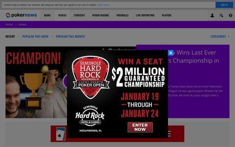 Screenshot of pokernews.com - Online Poker Videos. Tournaments, strategy and webcasts | PokerNews - captured Dec. 26, 2017