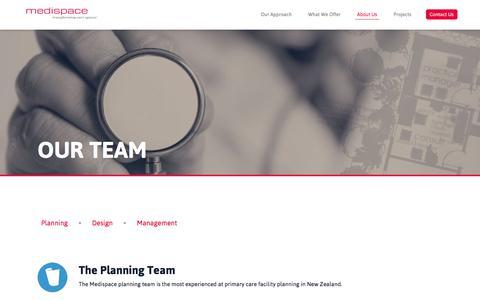 Screenshot of Team Page medispace.co.nz - Meet the Team | Medispace Health Facility Planning NZ » Medispace - captured Feb. 12, 2016