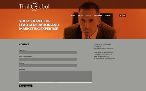 Screenshot of Contact Page thinkglobal.net - ThinkGlobal Inc - captured Oct. 9, 2014