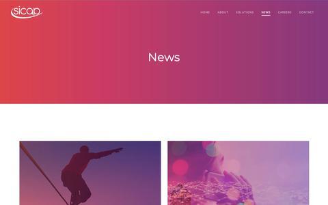 Screenshot of Press Page sicap.com - News - Sicap - captured Oct. 18, 2018