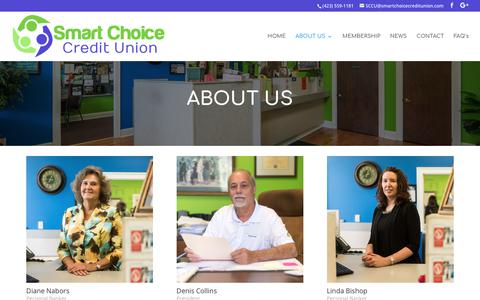 Screenshot of About Page smartchoicecreditunion.com - About Us - Smart Choice Credit Union - Banking in Cleveland, TN - captured Dec. 9, 2017