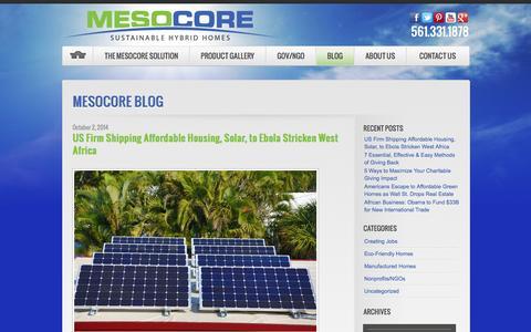 Screenshot of Blog mesocore.com - Blog - MesocoreMesocore | Mesocore - captured Oct. 27, 2014