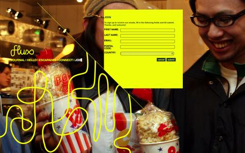 Screenshot of Signup Page flux.net - Join � Flux - A global creative community celebrating film, art, music and design - captured Jan. 8, 2016