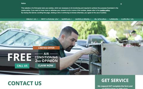 Screenshot of Contact Page acgenius.com - Contact Us | AC Genius - captured Sept. 29, 2018
