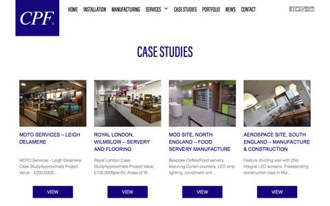 Screenshot of Case Studies Page cpfinstallation.co.uk - Case Studies - CPF Installation : CPF Installation - captured Oct. 9, 2016