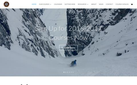 Screenshot of Home Page avyschool.com - Silverton Avalanche School | Where the Snow Pros Go - captured Dec. 3, 2016