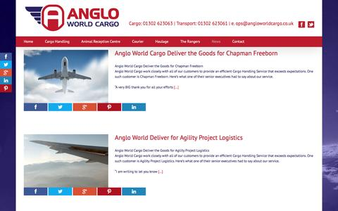 Screenshot of Press Page angloworldcargo.co.uk - News - Anglo World Cargo - captured May 30, 2017
