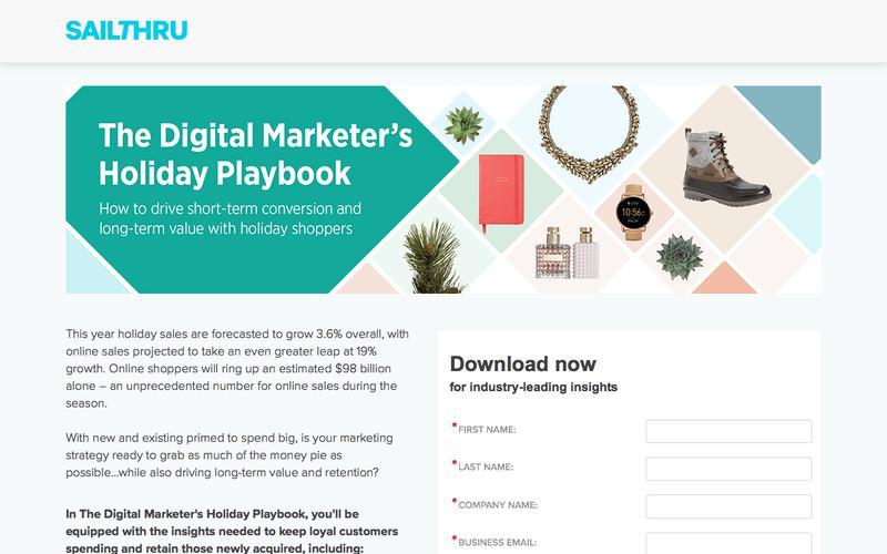 The Digital Marketer's Holiday Playbook   Sailthru