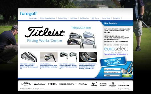 Screenshot of Home Page foregolfdiscount.com - Foregolf Discount, Chester - captured Oct. 5, 2014