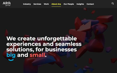 Screenshot of Team Page arq.group - What we do at Arq Group - captured July 3, 2019