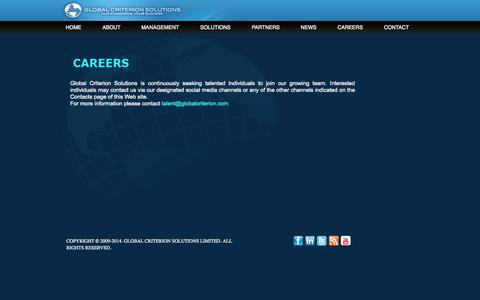 Screenshot of Jobs Page globalcriterion.com - Global Criterion Solutions | Careers - captured Oct. 2, 2014