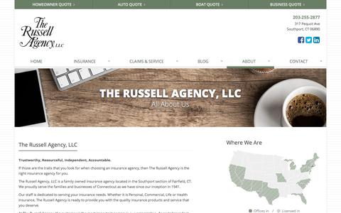 Screenshot of About Page therussellagency.com - About The Russell Agency, LLC - Serving Southport, Connecticut | The Russell Agency, LLC in Southport, Connecticut - captured Oct. 14, 2019