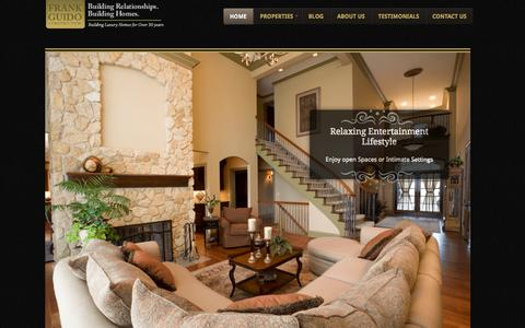 Screenshot of Home Page frankguidoconstruction.com - Luxury Home Builder | Frank Guido Construction - captured Sept. 30, 2014