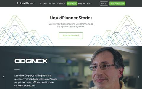 Screenshot of Case Studies Page liquidplanner.com - LiquidPlanner Customer Case Studies - captured June 3, 2017