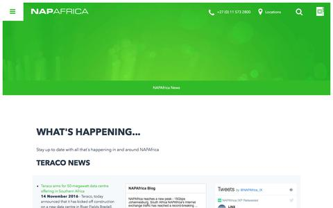 Screenshot of Press Page napafrica.net - NAPAfrica News - captured Nov. 3, 2017