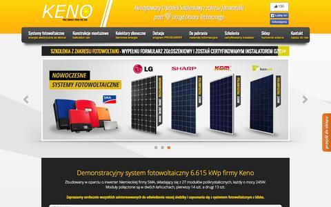 Screenshot of Home Page keno-energy.com - KENO Nowoczesne systemy solarne - captured Oct. 12, 2015