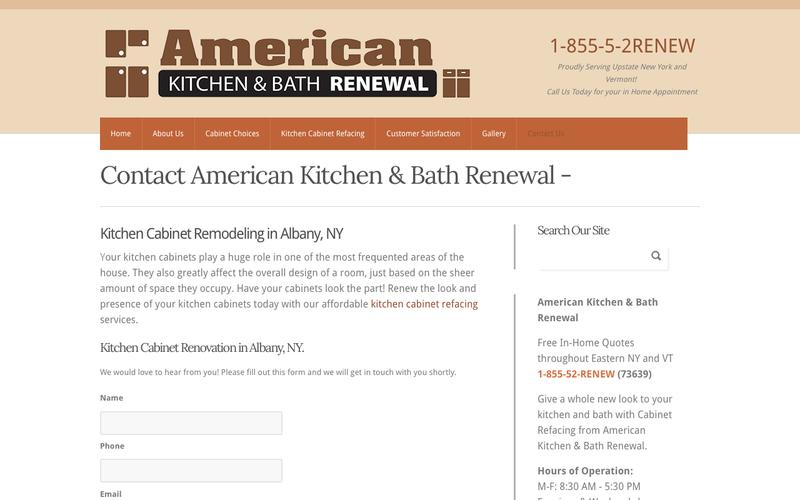 Web design timeline a page on for Bath remodel timeline