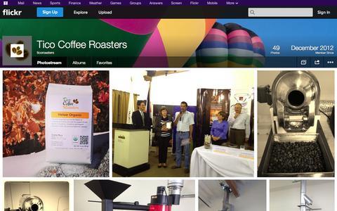 Screenshot of Flickr Page flickr.com - Flickr: ticoroasters' Photostream - captured Oct. 26, 2014