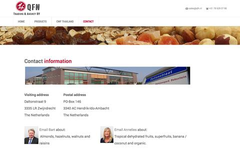 Screenshot of Contact Page qfn.nl - Contact | QFN - captured Oct. 27, 2014