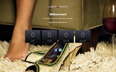 Screenshot of Home Page ladysnack.com - Ladysnack - captured Oct. 1, 2014