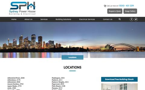Screenshot of Locations Page sydneypowerhouse.com.au - Locations - Sydney Power House Sydney Power House - captured Dec. 2, 2016