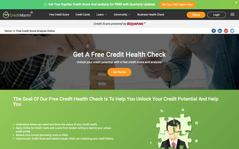 Screenshot of Services Page creditmantri.com - Get A Free Credit Health Check & Free Credit Score   Credit Analysis - captured Sept. 30, 2018