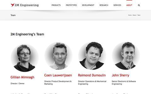 Screenshot of Team Page 2mel.nl - 2M Engineering - Experienced Multidisciplinary Team - captured Nov. 28, 2016