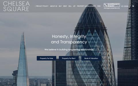 Screenshot of Home Page chelsea-square.co.uk - Chelsea Square  - North West London Estate Agency - captured Sept. 27, 2018
