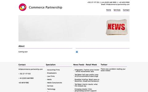 Screenshot of About Page commerce-partnership.com - About | Commerce Partnership - captured Oct. 2, 2014