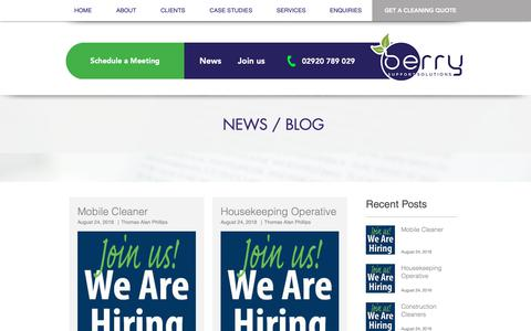 Screenshot of Press Page berrycleaning.co.uk - The Berry Times - captured Oct. 5, 2018