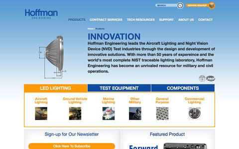 Screenshot of Products Page hoffmanengineering.com - Hoffman Engineering - captured Oct. 28, 2014