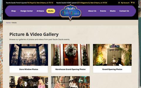 Screenshot of Press Page razzledazzle.com - Media Gallery   Razzle Dazzle - captured Feb. 18, 2016
