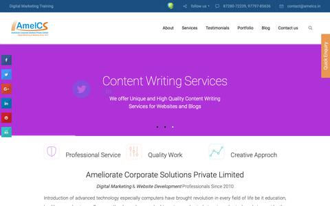 Screenshot of Home Page amelcs.in - SEO Company in Chandigarh, SEO Services in Chandigarh - captured Nov. 20, 2018