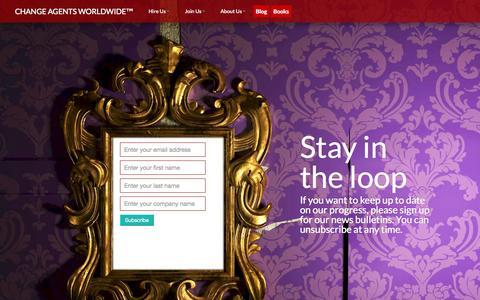 Screenshot of Signup Page changeagentsworldwide.com - Change Agents Worldwide - captured Oct. 2, 2014