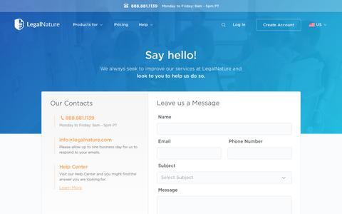 Contact US | Legalnature  | LegalNature