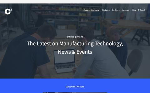 Screenshot of Blog c3ingenuity.com - C3 Blog | Latest on manufacturing technology, news and events - captured July 10, 2017