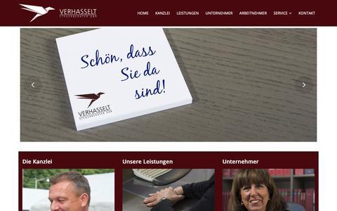 Screenshot of Home Page verhasselt-stb.de - Verhasselt Steuerberater GbR - captured Oct. 30, 2018