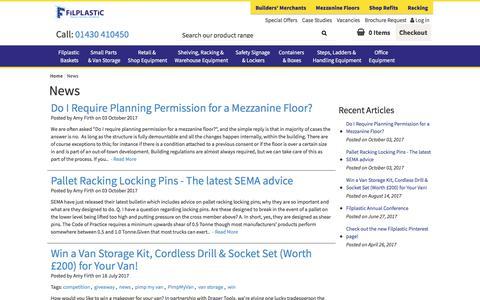 Screenshot of Press Page filplastic.co.uk - News – Filplastic UK Ltd - captured Oct. 13, 2017