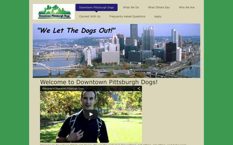 Screenshot of Home Page downtownpghdogs.com - Downtown Pittsburgh Dogs - Dog Walking & Pet Sitting Services - Positive Pets in Pittsburgh - captured Feb. 9, 2016