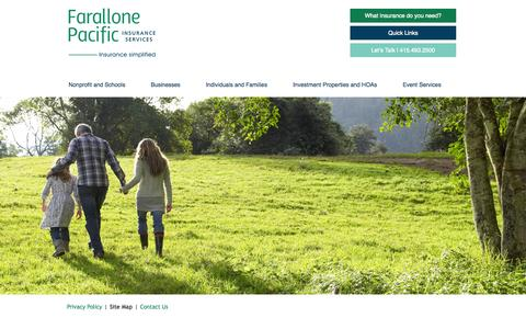 Screenshot of Site Map Page fp-ins.com - Site Map | Farallone Pacific Insurance Services | Farallone Pacific Insurance Services - captured Oct. 5, 2014