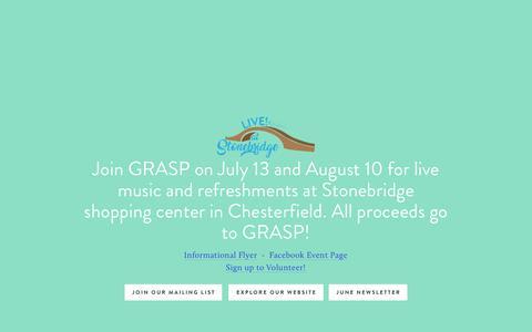 Screenshot of Home Page grasp4va.org - GRASP Home - captured July 12, 2017