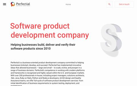 Screenshot of About Page perfectial.com - Product Design and Development Company - captured July 15, 2018