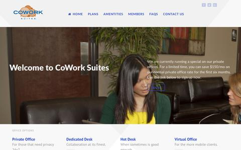 Screenshot of Home Page coworksuites.com - Cowork Suites - captured May 22, 2017
