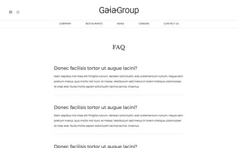 Screenshot of FAQ Page gaiagroup.com.hk - FAQ - Gaia Group - captured Sept. 27, 2018