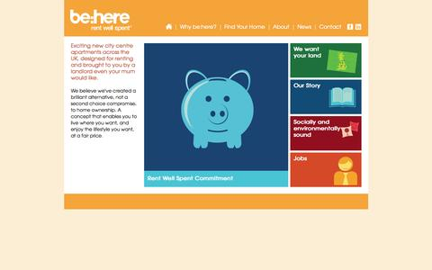 Screenshot of About Page be-here.co.uk - be:here - captured Oct. 5, 2014