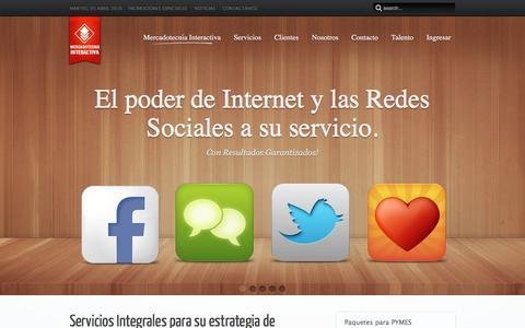 Screenshot of Home Page mercadotecniainteractiva.com - Mercadotecnia Interactiva - captured April 5, 2016
