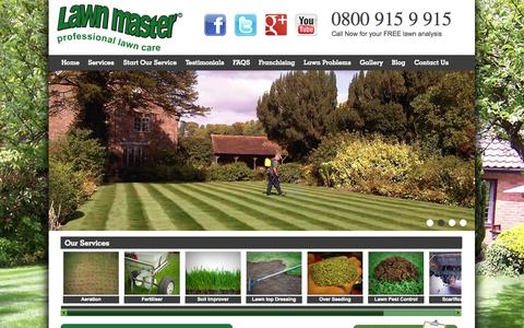 Screenshot of Home Page lawnmaster.co.uk - Lawn Care, Maintenance & Lawn Treatment Services - Lawn Master - captured Sept. 29, 2014