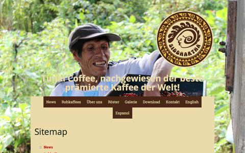 Screenshot of Site Map Page kaffee-sid.com - Sitemap - Kaffee Siddhartha GmbH - captured Oct. 16, 2017